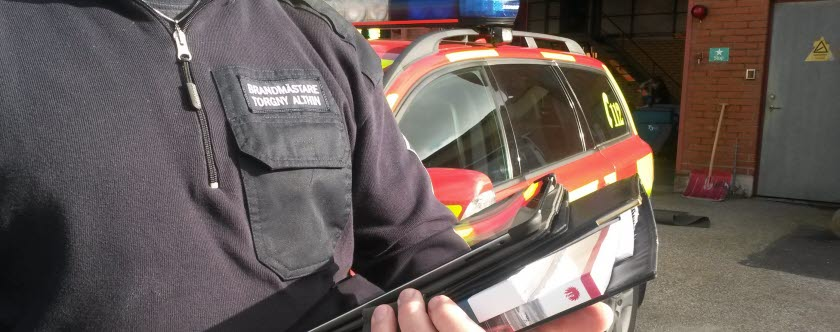 skriftlig redogörelse av brandskydd